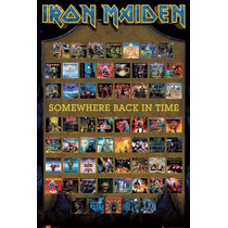 Cuadro Iron Maiden Album Covers Somewhere Back In The Time
