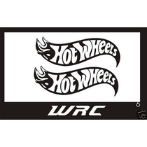 Set 2 Stickers Vinil Hot Wheels Logo Automovil Moto 17 X 6cm