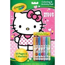 Crayola Hello Kitty Para Colorear Y Actividad Pad Con Marcad