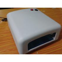 Lampara 36 Watts Para Secado Gel Uñas Acrílico Temporizador