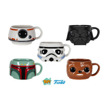Funko Set 5 Tazas Star Wars Ceramica Darth Vader Boba Bb8