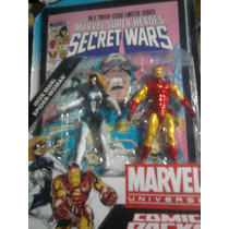 Marvel Legends Iron Man Mujer Araña Pack Hasbro C/ Comic