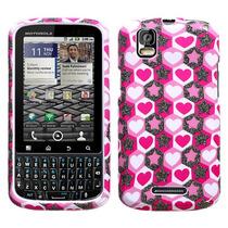 Protector Funda Motorola Pro Xt610 Corazones