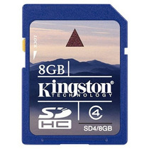 Memoria Sd 8 Gb Clase 4 Sdhc Flash Kingston