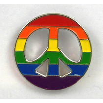 Pin Peace Arcoiris Pines 1.5 Pulgada Diametro Orgullo Gay