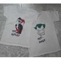 Pkt Playeras Pareja Joker & Harley Quinn Novios San Valentin