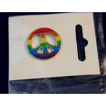 Pin Peace Arcoiris Pines 1 Pulgada Diametro Paz Orgullo Gay