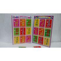 Loteria Didáctica Sumas Juego Lectura Escuela