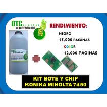 Kit Bote Y Chip Konica Minolta 7400 7440 7450 Maa