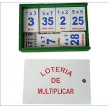 Material Didåctico Lotería De Tablas De Multiplicar De Mader