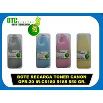 Bote Recarga Toner Canon Gpr-20 Ir-c5180 5185 550 Gr. Vbf