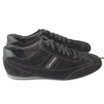 Zapatos Calvin Klein Clay Suede Gamuza Negros Talla 28 Mex