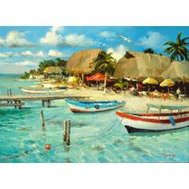 Restaurante En Isla Mujeres - Pinturas Oleo De Dmitry Spiros