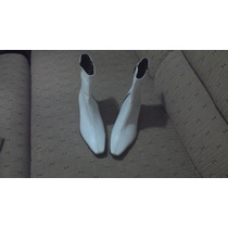 ¡¡ Oferta !! Botas Color Blanco Tacon Bajo 2.5