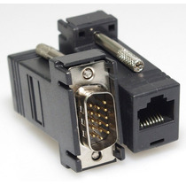 Kit Extensor De Cable Vga Mediante Rj45 Hasta 33 Metros