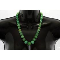 Collar De Piedra Corto Aventurina Verde Ccpn101