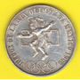 25 Pesos 1968 Plata México Juegos Olimpicos Juego Pelota Hm4