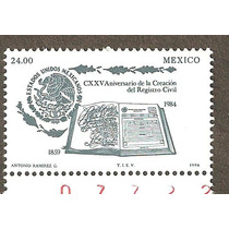 Mexico 1984 Aniversario Registro Civil Vbf