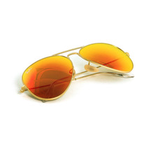 Ray Ban Aviator Espejo Naranja Rb 3025 112/69 Gota Chica 55