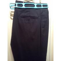 Pantalón De Vestir Negro. Jbe. 100% Lana. 100% Original.