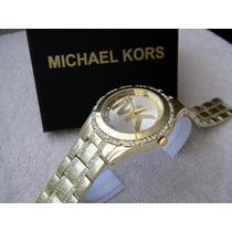 Hermoso Reloj Michael Kors Oro Elegante Subasta 1 Peso