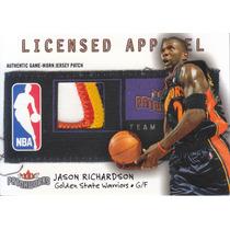 2003-04 Fleer Patchworks Number Patch Jason Richardson /100
