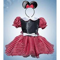 Vestido Princesa Disfraz Mimi En Rojo Con Negro Solo $350