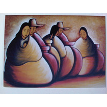 Vendedores De Jarrones Tarjeta Postal Mexico, Arte Ortiz J.