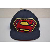 Gorra Logo Superman Cerrada Marino Original