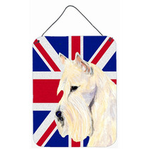 Scottish Terrier De Trigo Con Union Jack Británica Inglés