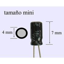 1000 Pzs Capacitor Electrolítico 47uf 16v Tamaño Mini
