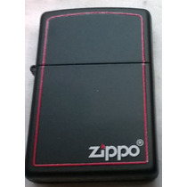 Encendedor Zippo Black Red Border Borde Rojonuevo Original!