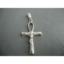 Cruz Egipcia Con Cristo En Plata - Consagrado Para El Dueño