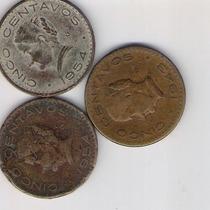 Monedas Antiguas 5 Centavos Josefa 1954 Y 1943 Escasas Rm4