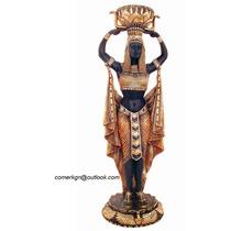 Antiguedades Figuras Artesanias Orientales Macetero Egipcio