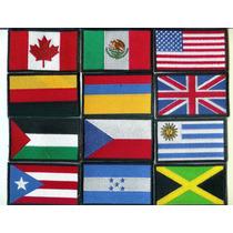 Inicia Haz Negocio 25 Banderas Bordadasen Iman O Para Coser
