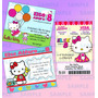 Invitaciones Kitty-invitaciones Hello Kitty- Hello Kitty