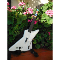 Guitarra Guitar Hero X-plorer Blanca Para Xbox 360 (5)