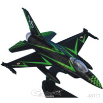 Italeri Die Cast Avion F16 Adf 1000 Hrs 1/100 Con Exhibidor