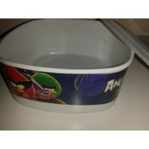 Recipiento Mediano Cuadrado Angry Birds Espacio Space
