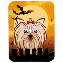 Yorkie Terrier De Halloween Yorkishire De Cristal Tabla De C