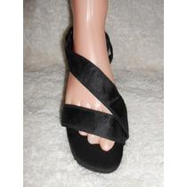 American Eagle!! Preciosos Zapatos Negros Abiertos, Num 25.5