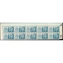 0892 México 12° E Orejón Tira 10 Sellos Mint N H 1975