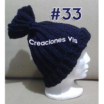 Gorro Unisex Tejido A Mano Crochet Todos Colores Y Tallas