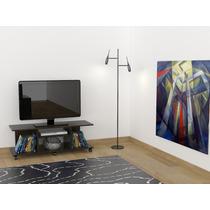 Mesa Para Pantalla De Tv Modelo Berlin Color Wengue Rta