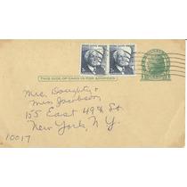 L133-estados Unidos Entero Postal Circulado 1969-hm4