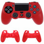 Funda Protector Silicon Control Ps4 Playstation 4 Skin Rojo