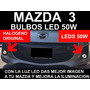Mazda 3 Bulbos Led 50w Blanco Absoluto Super Brillantes