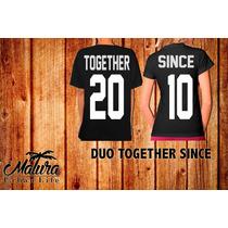 Playeras 14 De Febrero San Valentin Together Since Enamorado