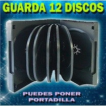 10 Pack Estuche Para 12 Discos Cd/dvd/bd Color Negro